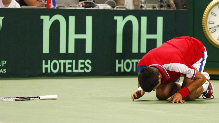 Djokovic, que venía de ganar el US Open, se lesionó durante la semifinal de 2011