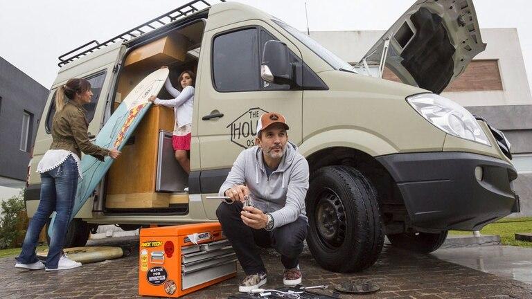 Diego Balcarce, su mujer y su hija unirán Alaska con Argentina en motorhome
