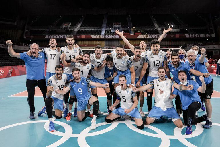 ¡Para la historia! La Argentina venció por primera vez a Italia y avanzó a semifinales en vóleibol