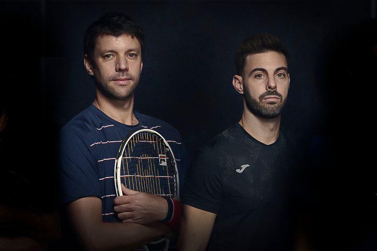 El marplatense Horacio Zeballos y el catalán Marcel Granollers, una de las mejores parejas de dobles del mundo.