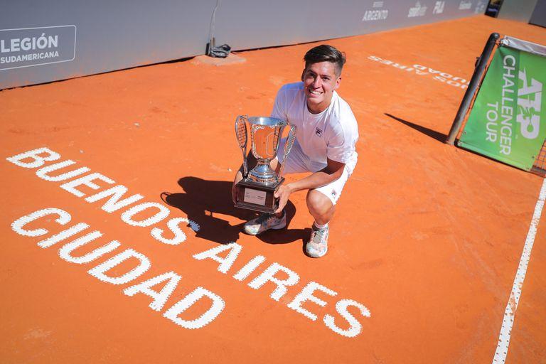 Báez, imparable: ganó su quinto Challenger y ya son 17 los títulos argentinos en 2021