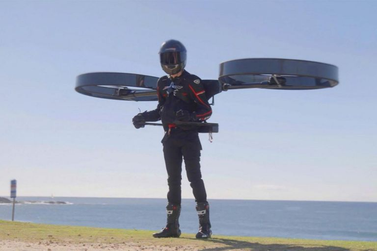 Esta es CopterPack, la mochila que te transforma en un dron humano