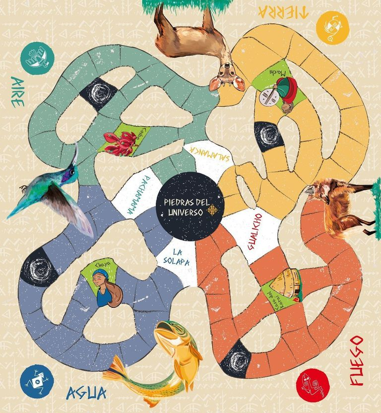 Piedras del Universo, un juego sobre la mitología del Litoral, fue creado por una familia de Paraná