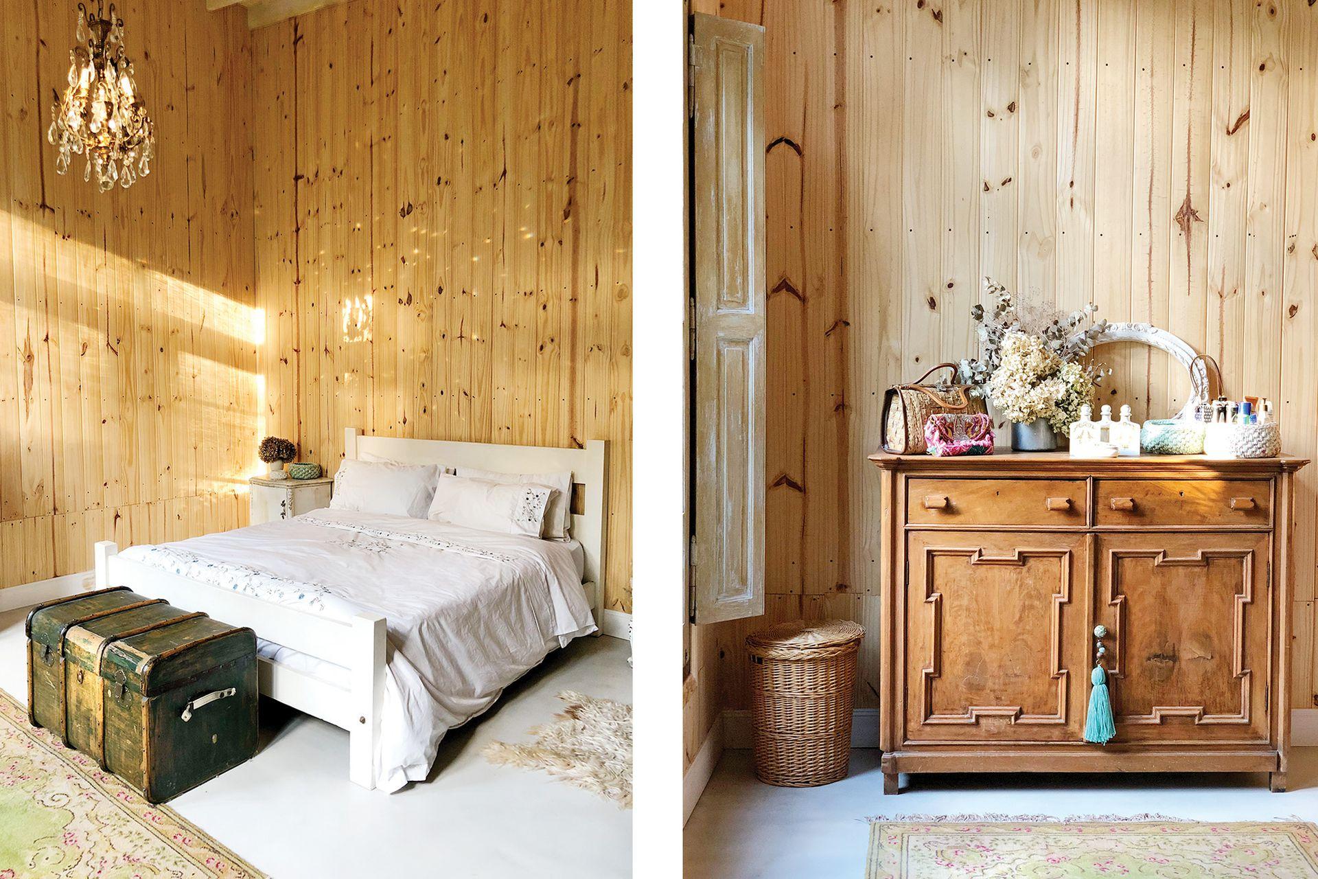 El cuarto principal, simple y acogedor. Con pocos muebles, pero gran efecto.