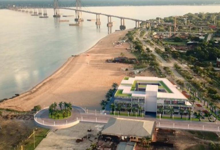 Así se vería el futuro shopping en la costa del Paraná