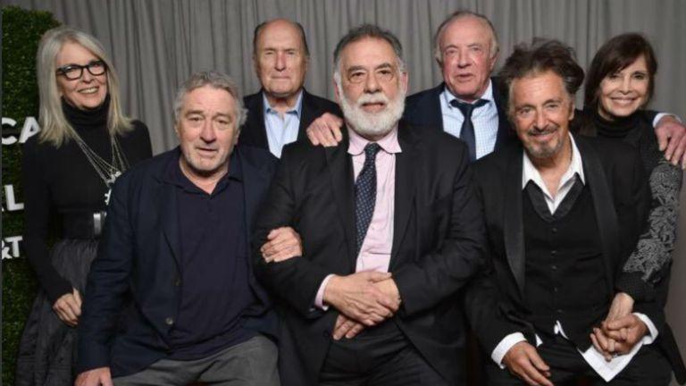 Hay equipo. Los actores de El padrino, junto a Francis Ford Coppola, 45 años después