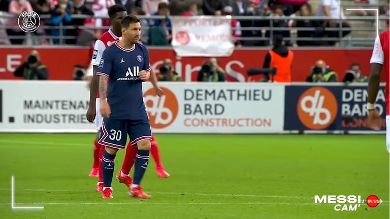 Messi Cam, el video que subió PSG a las redes sociales, es un seguimiento exclusivo al argentino en su debut, contra Reims, por la Ligue 1, de Francia.