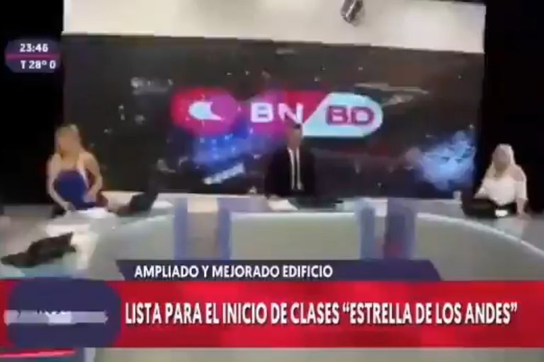 Un noticiero de San Juan transmitió el terremoto en vivo: el impactante video