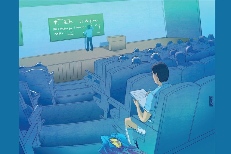 Reinventarse: vuelven a clase para no quedar colgados de su propio póster