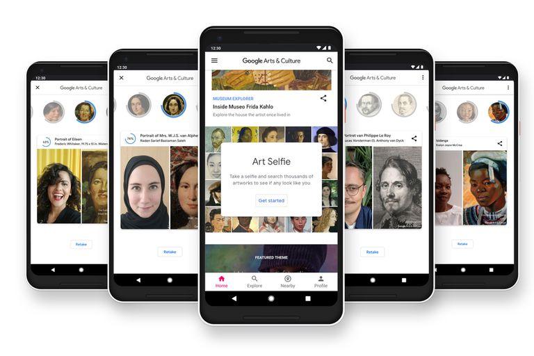 La herramienta Art Selfie de la aplicación Google Arts Culture está disponible desde hoy en la Argentina