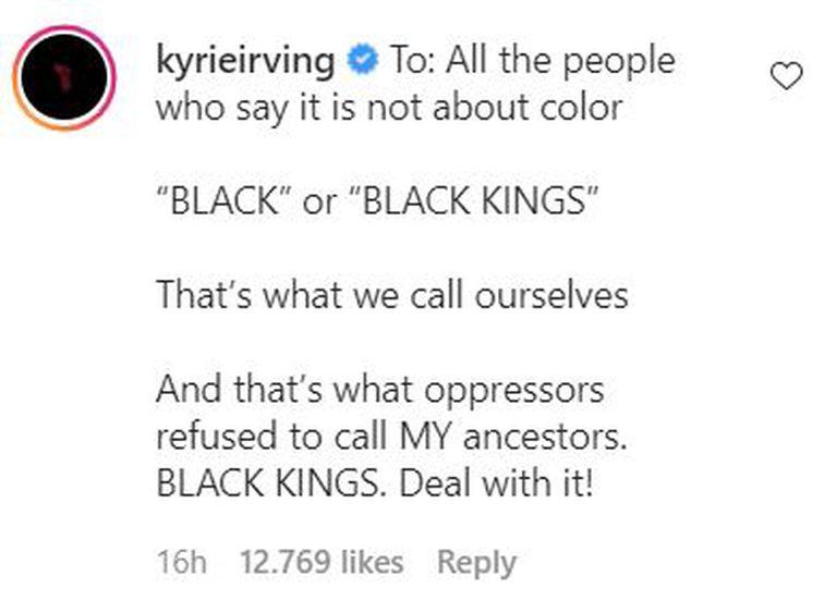 Kyre Irving recibió críticas por llevar la discusión al plano del racismo