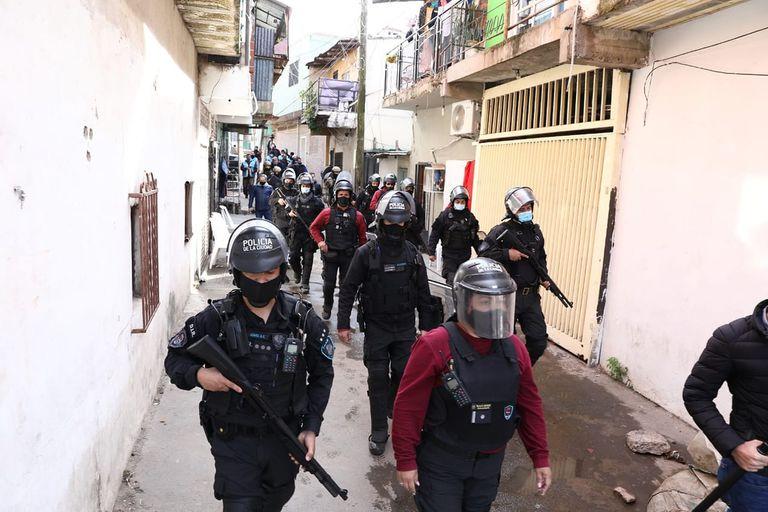 Gran despliegue policial por la calles de Lugano