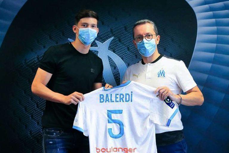 Leonardo Balerdi fue presentado en Olympique de Marsella