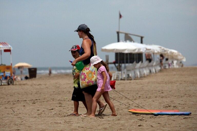 Último día de playa en Cariló, antes de regresar a Buenos Aires