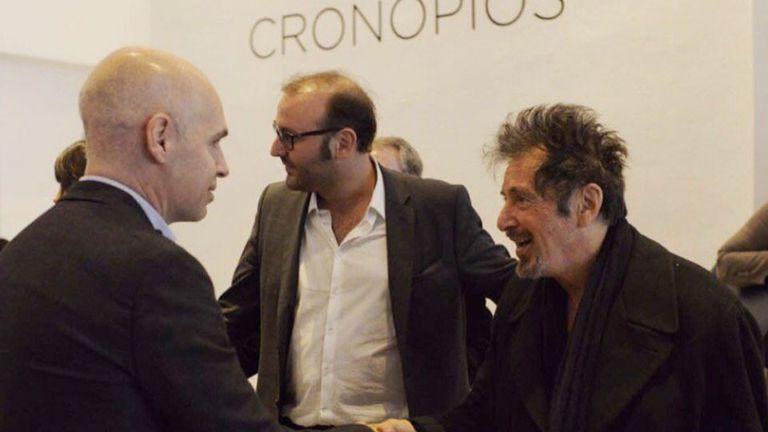 Al Pacino, junto a Horacio Rodríguez Larreta