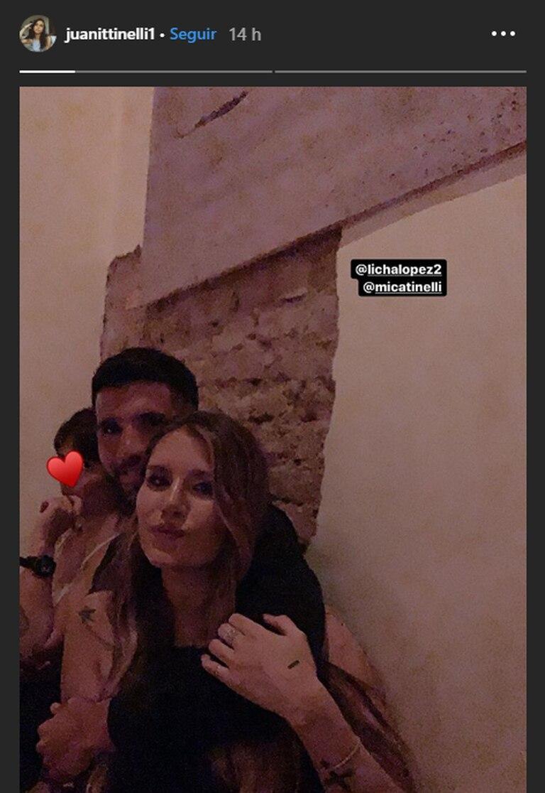 Micaela Tinelli y Lisandro López en el cumpleaños de Candelaria - Fuente: Instagram Stories