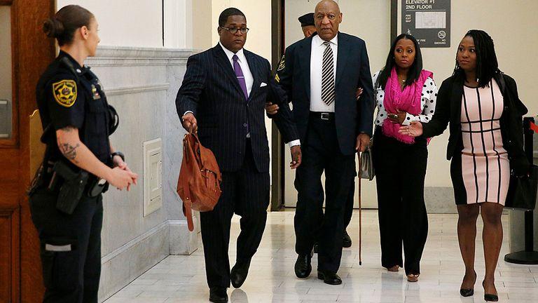 Bill Cosby, al llegar al tribunal de Pensilvania