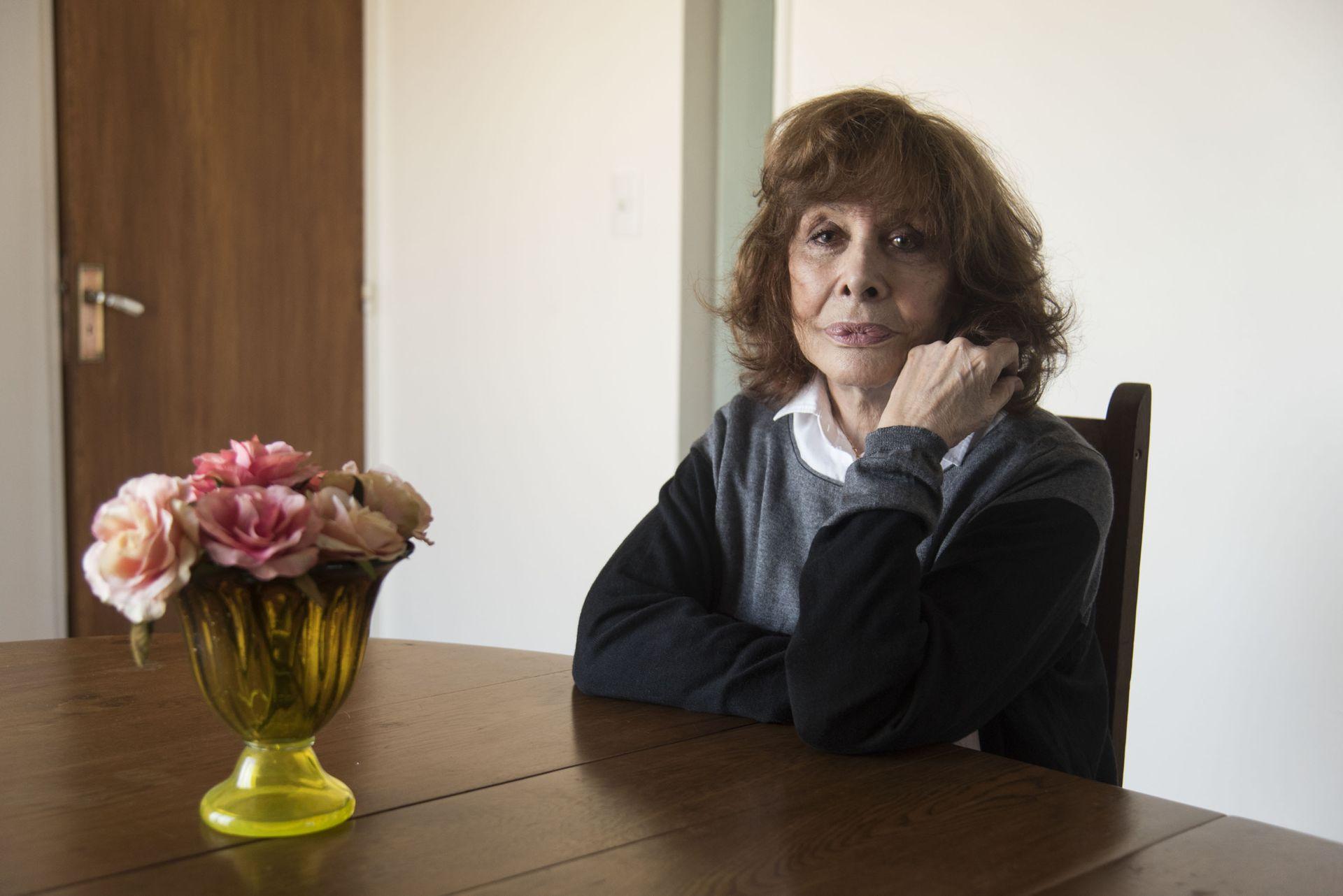 Thelma Biral en la intimidad de su hogar