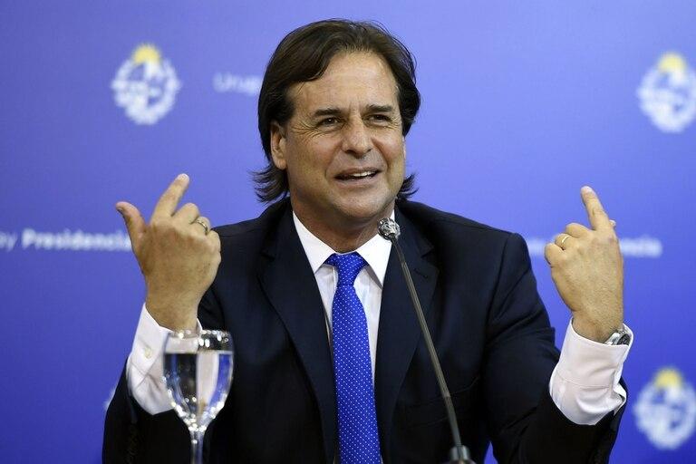 El presidente uruguayo Luis Lacalle Pou