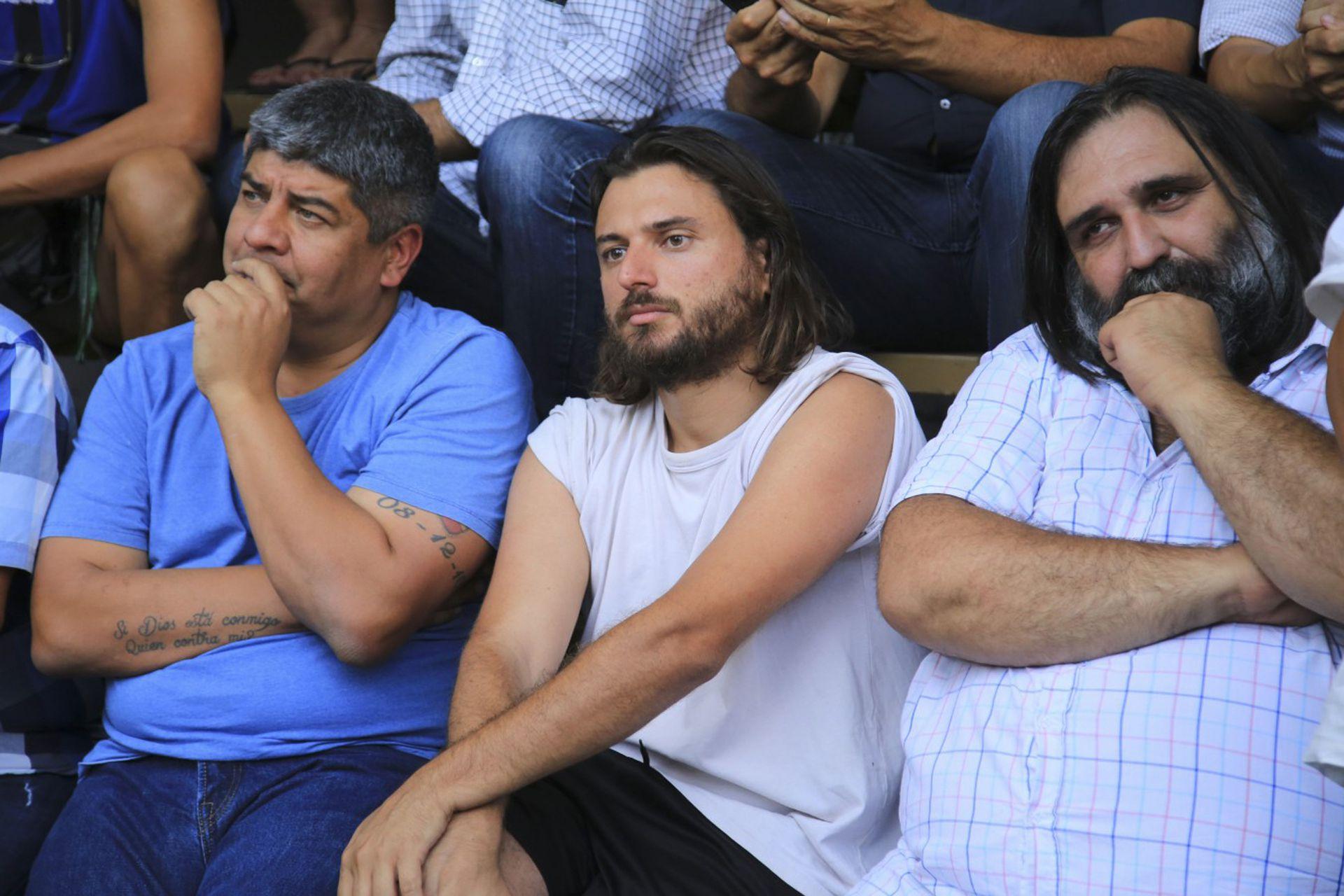 Pablo Moyano, Juan Grabois y Roberto Baradel