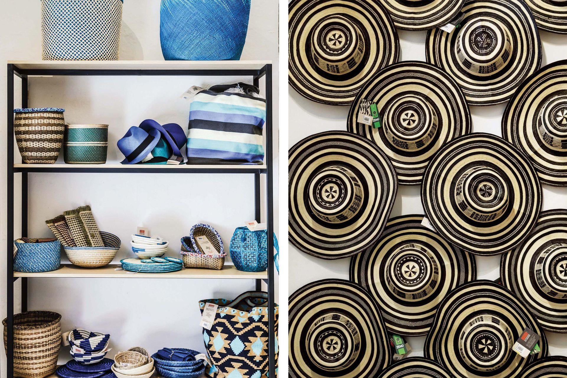 Una estrategia de los locales de Artesanías de Colombia es agrupar los productos por tono (muchos, inéditos) lo que los hace más atractivos y les da un look actual.