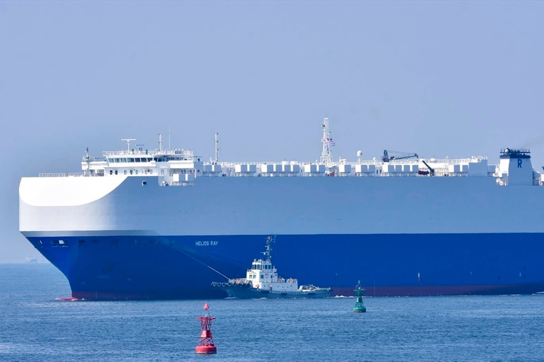 Una explosión golpeó al Helios Ray, de propiedad israelí, mientras navegaba en el golfo de Omán, el 26 de febrero pasado