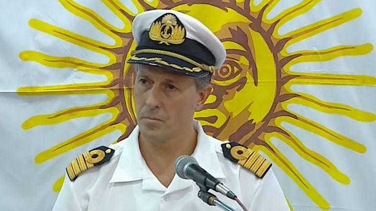El vocero de la Armada confirmó que no hubo un ataque externo