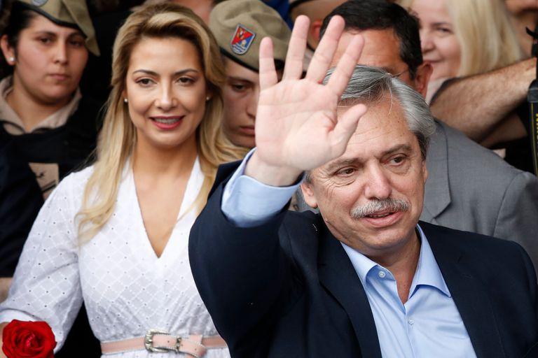 El 27 de octubre acompañó a Alberto a votar