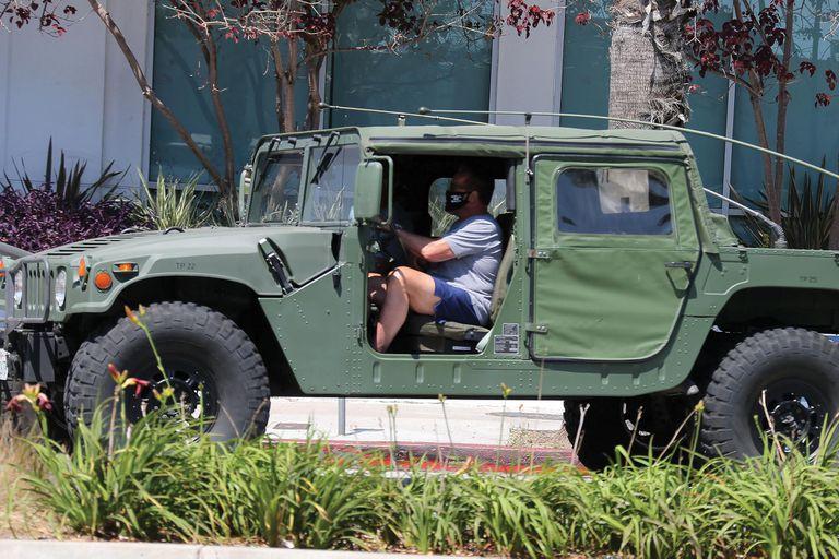 En 2020 en una de sus Hummer, una de sus marcas preferidas