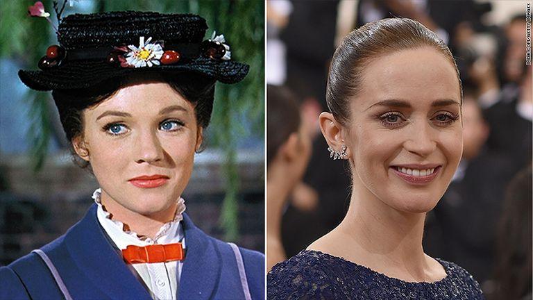 Julie Andrews y Emily Blunt, Mary Poppins y su heredera