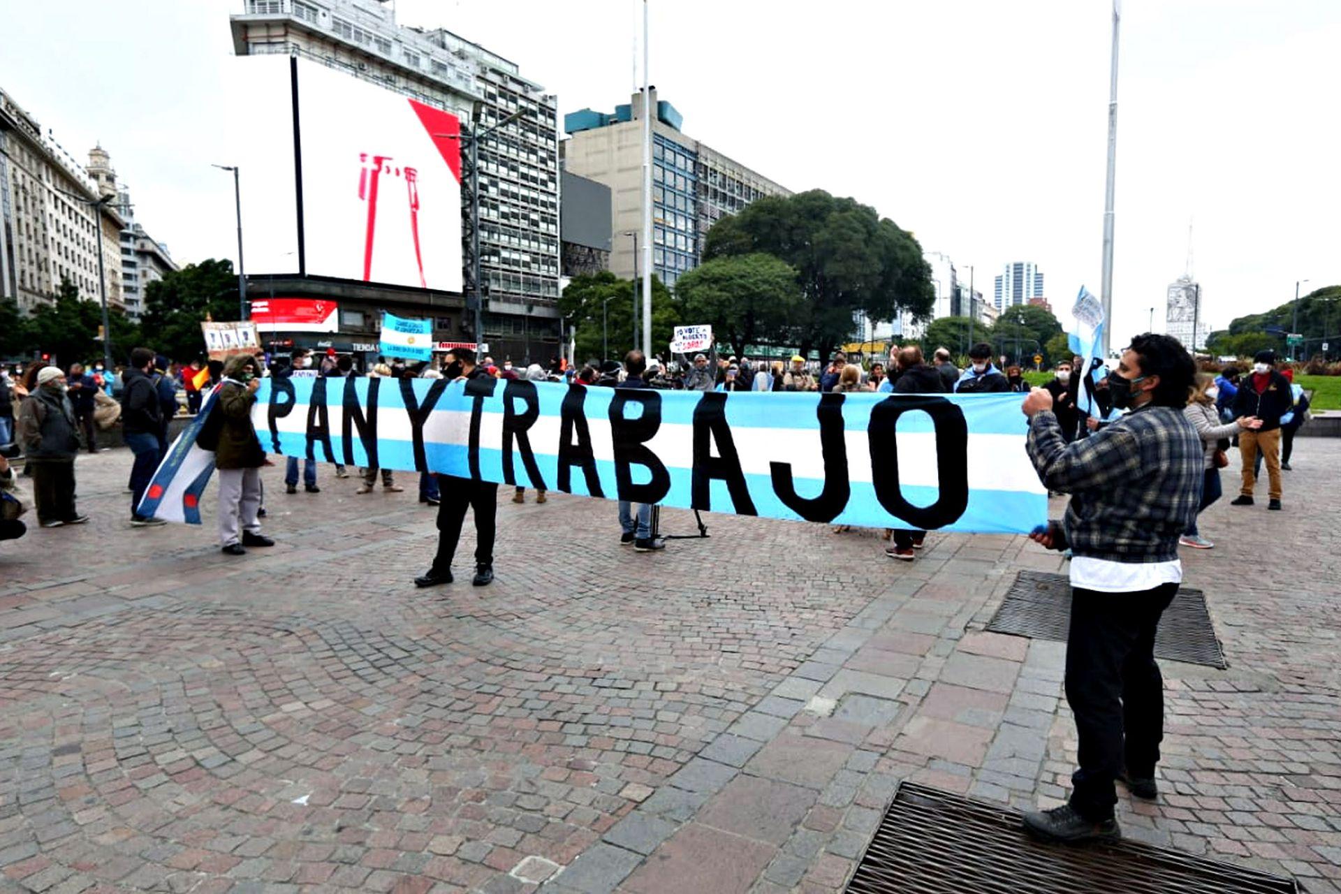 """Los que protestaban también pidieron """"pan y trabajo"""""""