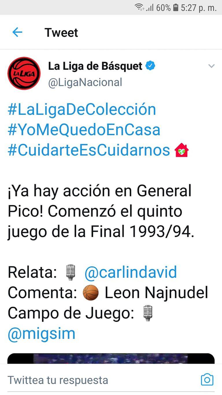 El recuerdo de una transmisión de la Liga Nacional, en la que compartía el equipo con León Najnudel, el visionario fundador del certamen.