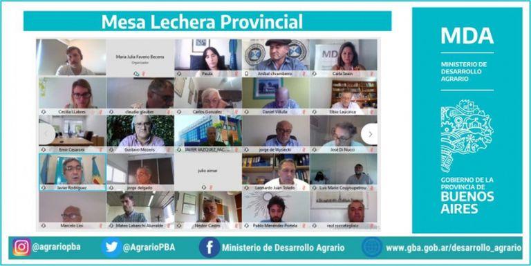 La Mesa de Lechería Provincial se reunió con el ministro de Desarrollo Agrario de Buenos Aires, Javier Rodríguez