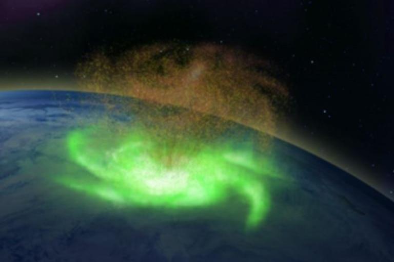 Esquema del huracán espacial