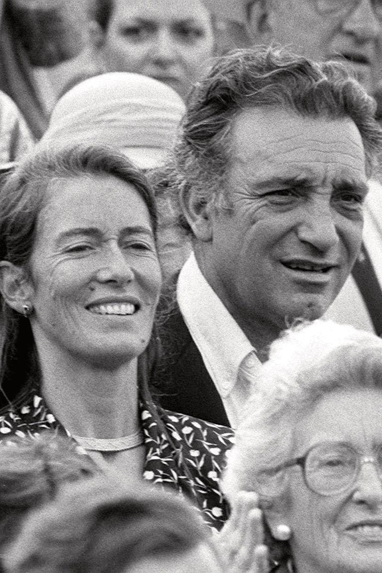 Con su segundo marido, Héctor Barrantes.