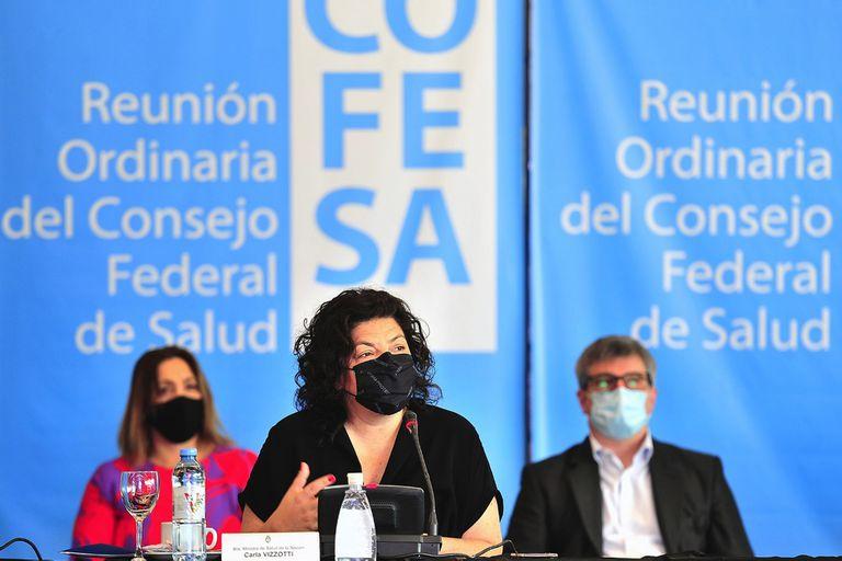 Carla Vizzotti en San Luis en en Congreso Federal de Salud