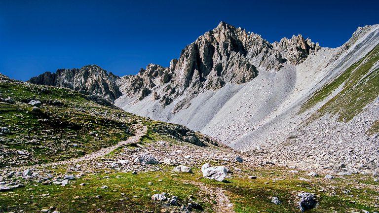 Un sendero en Tignes, en los Alpes franceses