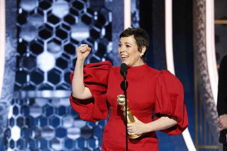 Olivia Colman, feliz con su premio