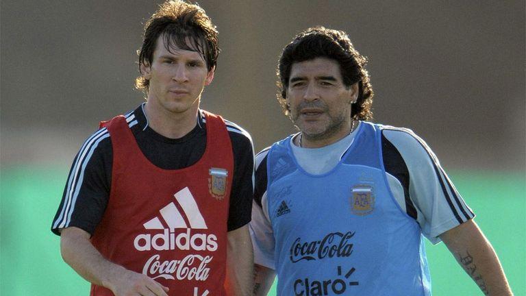 Maradona y Messi, cuando Diego era el entrenador de la selección Argentina
