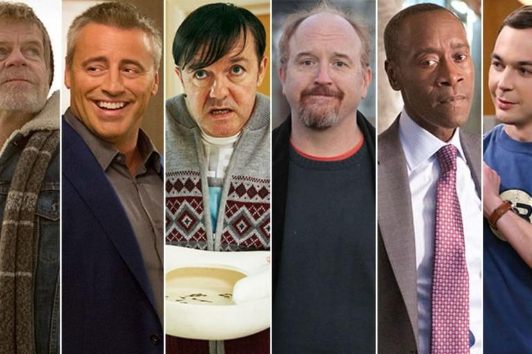 William H. Macy, Matt LeBlanc, Ricky Gervais, Louis C.K., Don Cheadle y Jim Parsons, los comediantes del año