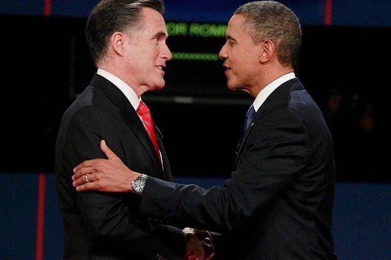 Romney y Obama se saludaron cordialmente tras el primer debate