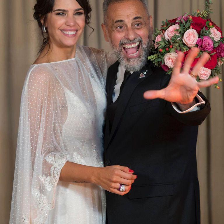 Jorge Rial está casado con la nutricionista Romina Pereiro