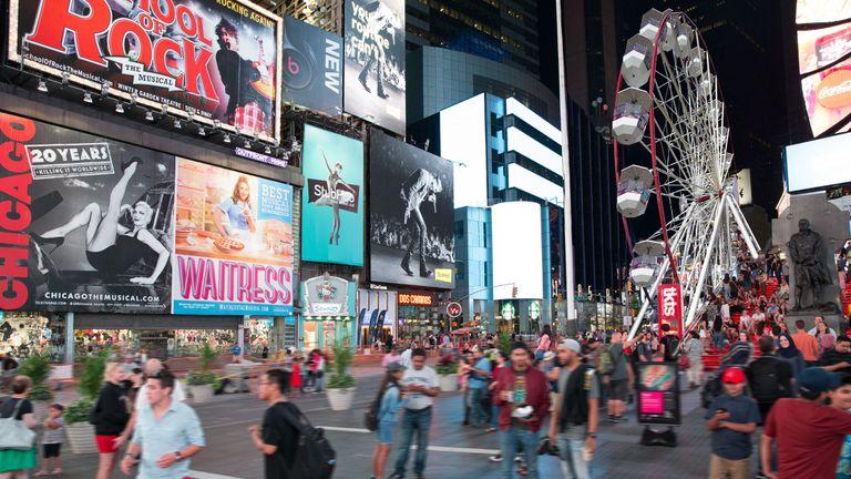 Una nueva atracción concentra todas las miradas en Times Square