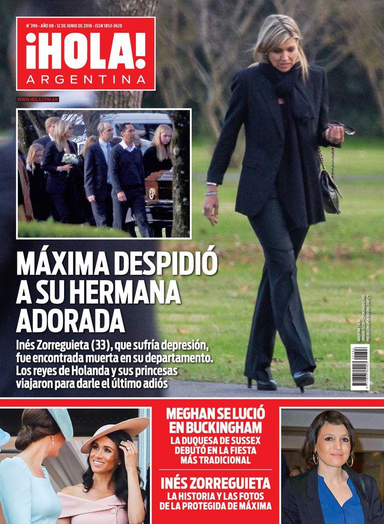 La última tapa de ¡Hola! Argentina, retrata la despedida de la reina Máxima a su hermana.