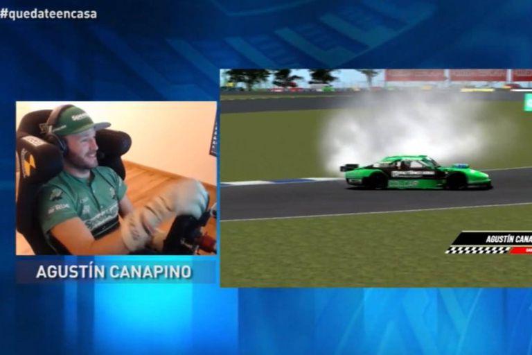 E-Sports. Canapino, el tetracampeón de TC que batalla contra pilotos de F.1