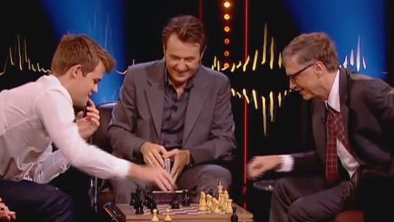 Magnus Carlsen sólo necesitó 12 segundos para vencer a Bill Gates