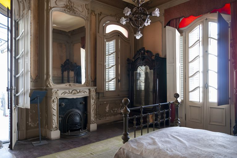 El dormitorio de Mitre, tal como se exhibe en la casa-museo