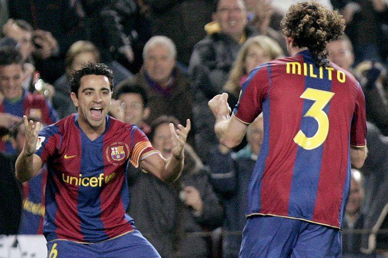 """Gabriel Milito, sobre Xavi: """"Con él en la cancha tenía la sensación de que no podíamos perder"""""""