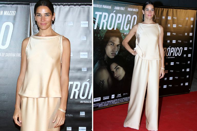 Juana Viale deslumbró con su elegante look en el preestreno del film Trópico