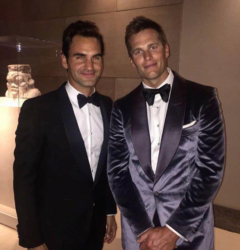 Federer también compartió una foto con Brady para felicitarlo por su séptimo anillo. Crédito: Instagram